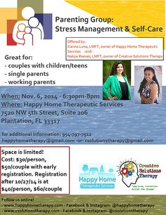 Creative Solutions Therapy   Creative Solutions is Offering a Parenting Therapy Group! Nov. 6, 2014