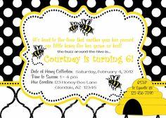 bee theme invite.