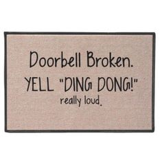 Yell Ding Dong Doormat - SkyMall