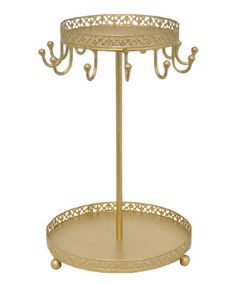 Another great find on #zulily! Gold Jewelery Stand #zulilyfinds