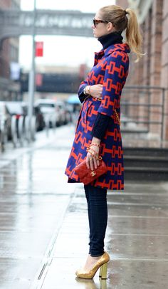 coco-is-haute:  Orange and Blue Street Style | The Blond Salad
