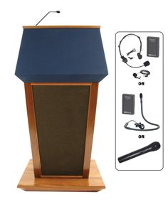 Amplivox SW3040-OAK - Patriot Wireless Lectern   Sale Price: $3,102.75