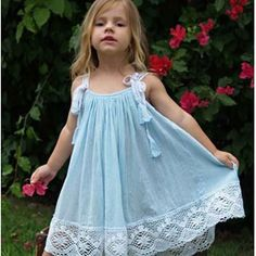 love the colour & lace detail on this tea princess crushed babydoll dress . I pinnned it for the picture. Little Dresses, Little Girl Dresses, Cute Dresses, Girls Dresses, Flower Girl Dresses, Sewing Dress, Sewing Baby Clothes, Toddler Dress, Kind Mode