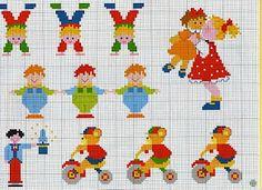 Atelier da Kátia: MAIS GRÁFICOS INFANTIS - PONTO CRUZ
