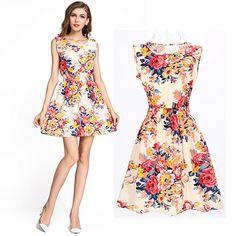 OUBO Sommer Mode Damen Ärmellos Abendkleid Kleider Partykleid Sommerkleid  Kleid Party viele Farbe und Größe zur Wahl S M L XL XXL  Amazon.de   Bekleidung 4fcc1eef8f
