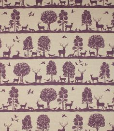 Gorgeous fabric in a new colourway! Cairngorms Damson! http://www.justfabrics.co.uk/curtain-fabric-upholstery/damson-cairngorms-fabric/
