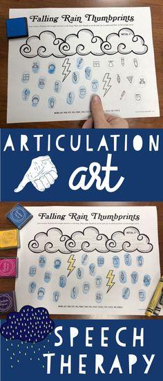 Articulation thumbprint art activity