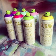 I'm a massive fan of my lungs, my nervous system and the environment too, so I picked up some #sugar #spraypaint to try! #ironlak #paint #atv #aerosol #art #illustration #doodle #graffiti