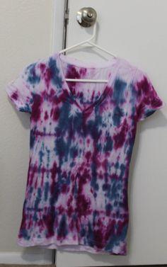 I love to make tie-dye clothing.