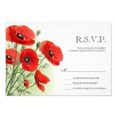 ShoppingFloral Wedding RSVP Reply Card With Poppies Custom AnnouncementsWe provide you all shopping site and all informations in our go to store link. You will see low prices on