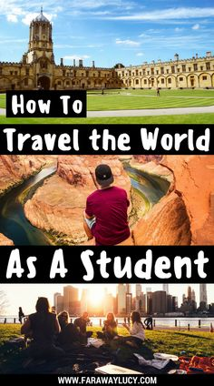 How to travel the world as a full-time student even if you have no time or money. There are so many options such as studying abroad, working abroad, jailbreak, couchsurfing, WWOOF, volunteering, teaching English abroad, travel grants and even starting a travel blog so that travel pays for itself. Click through to read more...