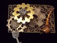 Steampunk Embellished Shoe Adornments - Moving parts, gears, and fun!