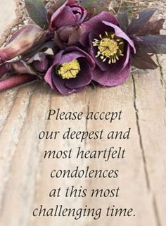 The death of a loved one is devastating for any individual, and it is very difficult to write condolences for death. However, you need to make sure that you write some heartfelt words of condolence for the loss of a loved one. Words For Sympathy Card, Sympathy Quotes For Loss, Sympathy Verses, Condolence Messages, Sympathy Flowers, Sympathy Wishes, Words Of Condolence, Condolences Quotes, Christ