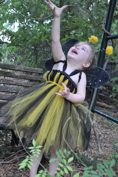 Bumble Bee Tutu Dress Costume 12M5T   Great for by AvaBellesCloset, $34.95