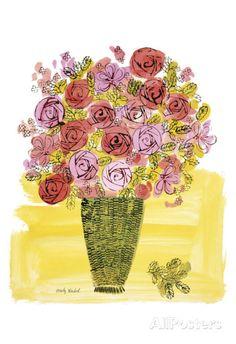 (Stamped) Basket of Flowers, 1958 Kunstdruk