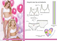 Estudio Intimo: Trabajos Preteen Girls Fashion, Kids Fashion, Hello Kitty Dress, Vintage Bra, Lingerie Patterns, Fashion Design Template, Girls In Panties, Cute Young Girl, Comfortable Bras