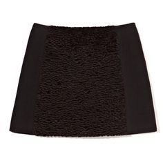 Opening Ceremony Marty Pieced Astrakhan Skirt ($289) ❤ liked on Polyvore