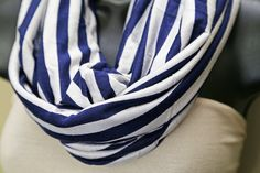 Nursing Scarf navy blue & white striped 3 in 1 by MamaMelonBC Nursing Scarf, Breastfeeding Cover, Navy Blue, Blue And White, Infinity, Trending Outfits, Unique Jewelry, Handmade Gifts, Etsy