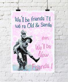 Kunstdruck Poster Freundin Geschenk von PapierMond auf DaWanda.com