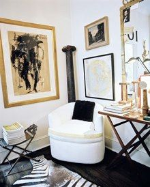 more black, white and beige: living room