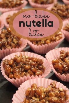 no bake nutella bites - easy treats made from oats, puffed rice, milk & nutella. Kosher Recipes, Baking Recipes, Dessert Recipes, Cookie Recipes, Nutella Snacks, Nutella Recipes, Smoothie, Vegan Candies, Best Instant Pot Recipe