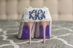 Personalized Garter Bridal Wedding Set Navy by ContessaGarters