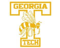 Georgia Tech Yellow Jackets #7 NCAA College Vinyl Sticker Decal Car Window Wall