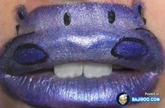 amazing cool creative crazy awesome lips lipstick latest style trendy art designs ideas pics images photos pictures 27 41 Amazing Lips Art Designs