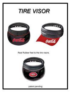 Designed these visor tire caps for Nascar.