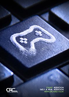 The image of cocaine in the form of a gaming controller depicts two different addictions. Addiction to cocaine and video games cause a downwards spiral for a person's life and can take over every aspect of it.