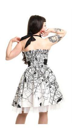 Vixxsin Gothic Dark Crow Dress