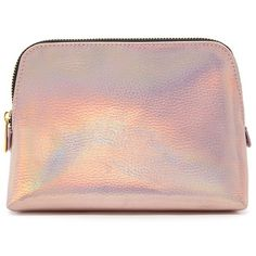 Forever21 Metallic Makeup Bag (45440 PYG) ❤ liked on Polyvore featuring beauty products, beauty accessories, bags & cases, bags, clutches, beauty, makeup bags, filler, rose gold and purse makeup bag