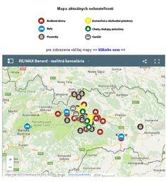Na našej stránke >> www.re-max.sk/benard v sekcii - Informácie o kancelárii pribudla novinka. Mapa s aktuálnou ponukou našich nehnuteľností. Kliknite a pozrite si našu aktuálnu ponuku nehnuteľností na mape.  Viac o nás sa dozviete na >> www.re-max.sk/benard