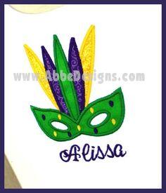 Monogrammed Mardi Gras Mask TShirt  monogrammed Child by abbytrey, $26.95