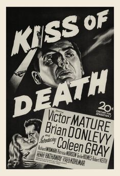 THE KISS of DEATH Movie Poster Classic Movie by ArtDecoGallery