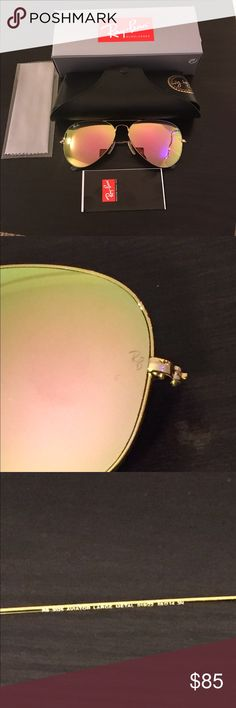 Ray-Ban Aviator copper flash lens with gold frame BRAND NEW 100% AUTHENTIC RAY  BAN AVIATOR SUNGLASSES RB3025 019 Z2 58mm gold FRAME w  COPPER (PINK) FLASH  ... 94f4f4f00e