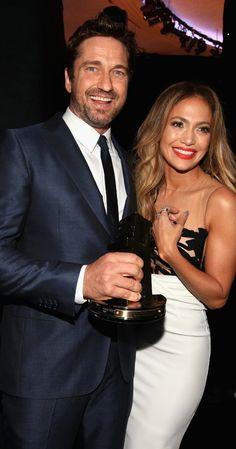 Jennifer Lopez and Gerard Butler at event of Hollywood Film Awards (2014)