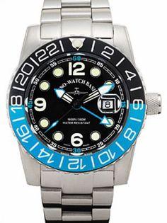 e7b176827ef ZENO Airplane Diver 6349Q-GMT-a1-4M blau. Quartz. 45mm case. Zeno Watch ...