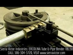 Available at Sierra Victor Industries: ERCOLINA Tube & Pipe Bender. Model TB130 - Bending 3 Sch 10 Galvanized Pipe. For more information or to order, CALL 386-304-3720, VISIT http://sierravictor.com/index.php?dispatch=products.view&product_id=1378
