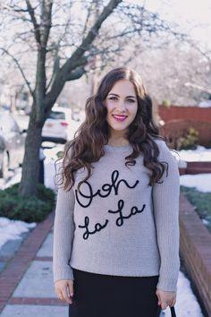 Ooh La La Sweater - A Sequin Love Affair