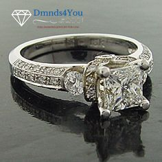 N519X, 0.50ct., Modern Antique Square Cut Diamond Engagement Ring - Dmnds4You