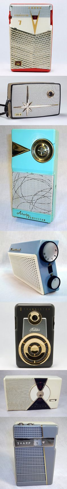 Transistor Radios - Atomic 1950's Mid Century / Portable Radio / Vintage / Retro…