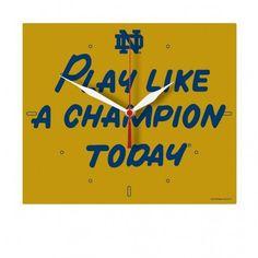 Notre Dame Fighting Irish Plaque Clock - P.L.A.C.T