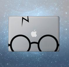 Potter Glasses Harry Macbook Decal Macbook Decals Macbook Sticker Apple Mac Decals Macbook Pro Air ipad sticker iphone sticker