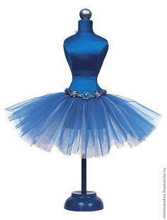 """Купить Статуэтка Мини-манекен """"СПЯЩАЯ КРАСАВИЦА"""" - синий, подарок девушке, купить подарок, статуэтка"""