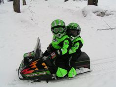 What is cuter than this? Snowmobile Michigan !!!!