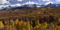 Colorado Fall Colors across the Dallas Divide Range. Stephen W. Oachs Photography