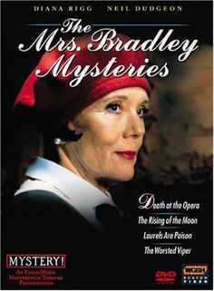 'The Mrs Bradley Mysteries' British TV drama series based on the character created by detective writer Gladys Mitchell in the Mystery Tv Series, Mystery Books, Drama Series, Best Mysteries, Cozy Mysteries, Murder Mysteries, Bbc Tv Shows, Detective Shows, Tv Detectives