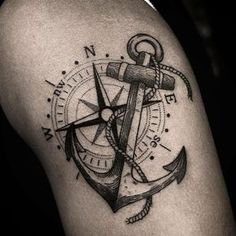 Anchor Tattoo: 90 AWESOME ideas to showcase your strength - Tattoo ideen - - Anchor Tattoo: 90 AWESOME ideas to showcase your strength – Tattoo ideen – - Navy Tattoos, Sailor Tattoos, Elbow Tattoos, Sleeve Tattoos, Navy Anchor Tattoos, Nautical Tattoos, Anchor Compass Tattoo, Anchor Tattoo Design, Compass Tattoo Design