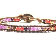 Single wrap bracelet, wear one or wear several. Combine with other colors to make your unique look!